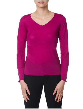 Wave V-Neck Sweater
