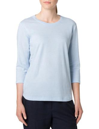 Linen Cotton 3/4 Sleeve T-Shirt