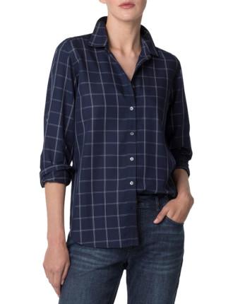 Modal Windowpane Shirt