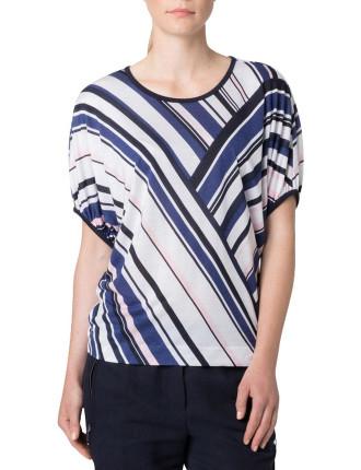 Spliced Stripe T-Shirt