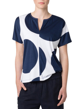 Cotton Giant Spot Oversized T-Shirt