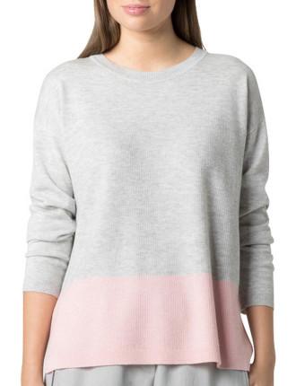 Merino Silk Colour Block Knit