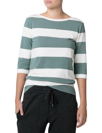 Bold Stripe Half Sleeve