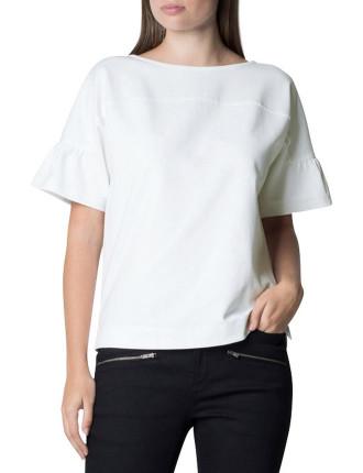Ponte Sculpted Sleeve T-Shirt