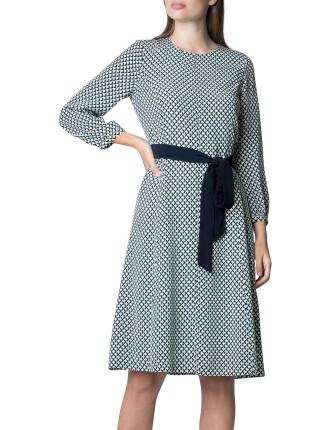 Abstract Geometric Print Dress