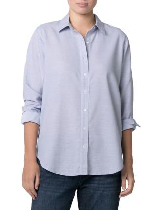 Stripe Textured Cotton Shirt