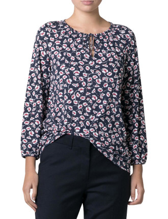 Floral Gathered Blouse