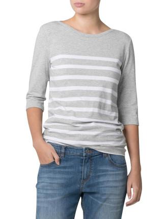 1/2 Sleeve Breton Stripe T-Shirt