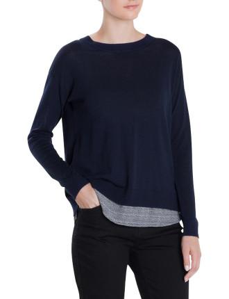 Spliced Pullover