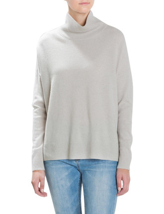 Dropped Sleeve Roll Neck