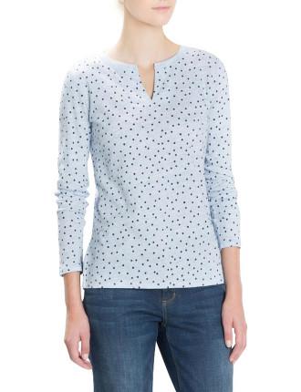 Ombre Spot Tunic T-Shirt