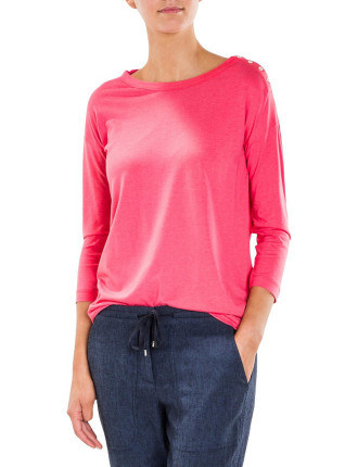 Drape Boat Neck T-Shirt