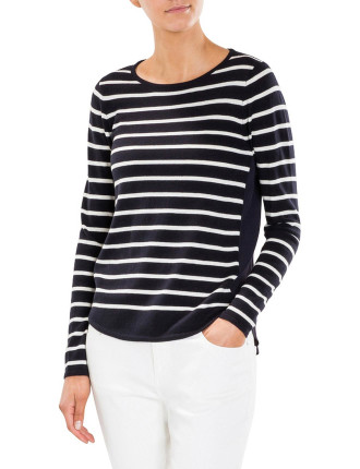 Spliced Stripe Knit