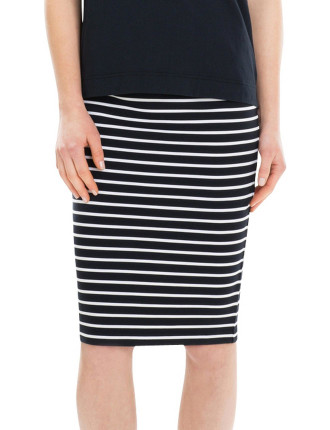 Ponte Stripe Skirt