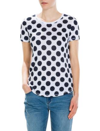 Giant Spot Linen T-Shirt
