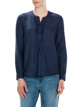Delave Pin Tuck Blouse