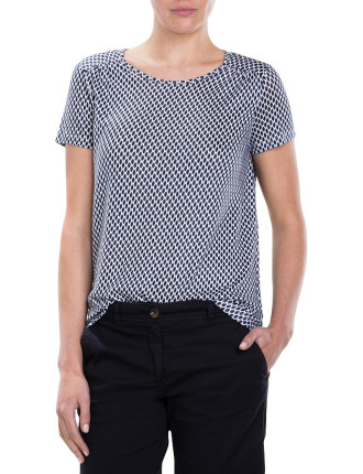 Smudged Diamond Short Sleeve T-Shirt