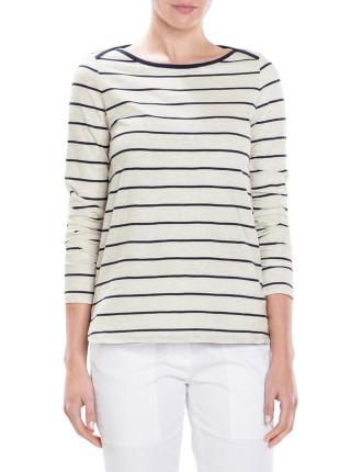 Stripe Shoulder Detail T-Shirt