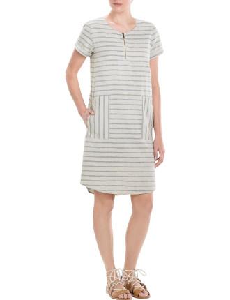 Yarn Dyed Stripe Shift Dress