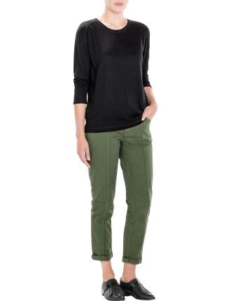 Linen 3/4 Sleeve T-Shirt