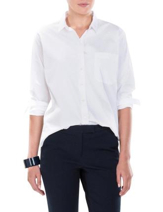 Minimal Collared Cotton Shirt