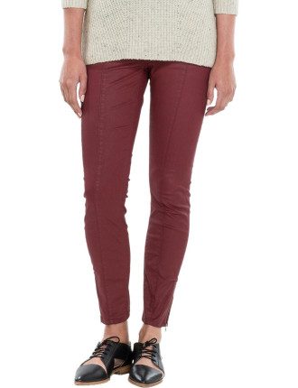 Slim Crop Coated Jean