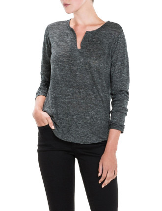 Long Sleeve Linen Marle T-Shirt