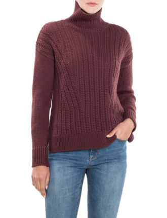 Fashion Roll Neck Knit