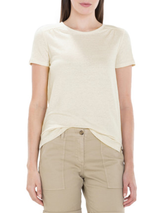 Organic Linen Gathered T-Shirt