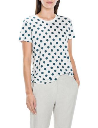 Linen Spot Print T-Shirt