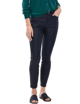 Coated Slim Cropped Jean