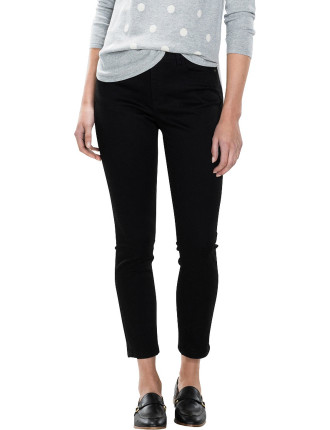Stay Black Slim Cropped Jean