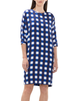 Painterly Gingham Dress