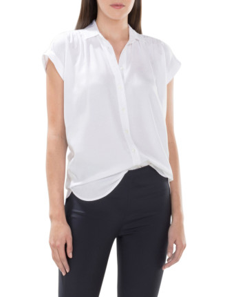 Modal Drape Short Sleeve Blouse