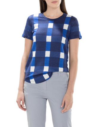 Oversized Gingham T- Shirt