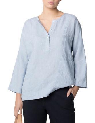 Stretch Cotton Garment Dyed Longline Short