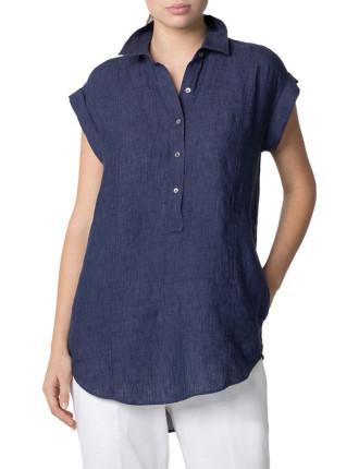 Delave Linen Tunic Top