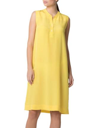 Silk Collarless Dress