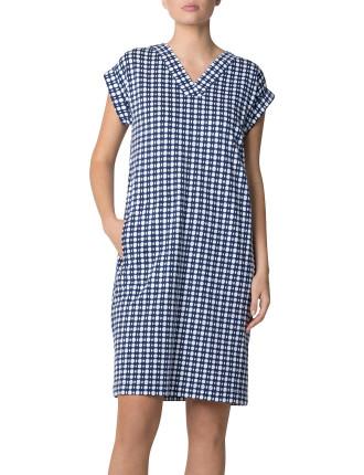 Slub Organic Cotton Mini Tile Dress