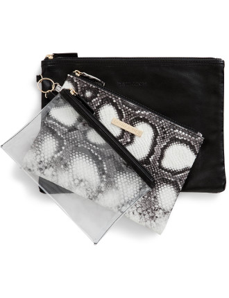 3 Piece Cosmetic Bag Set