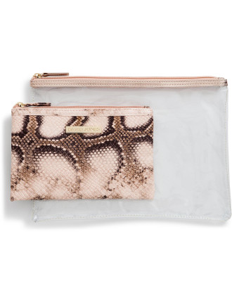 2 Piece Cosmetic Bag Set