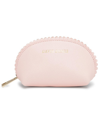 Small Scalloped Edge Beauty Bag