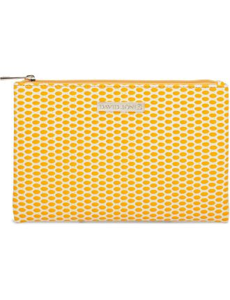Flat Beauty Bag - Yellow