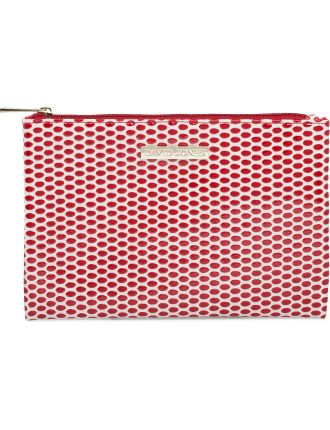 Flat Beauty Bag - Red