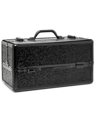 Black Glitter Hard Case - Large