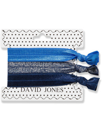 Hair Ribbons 3 Pack - Blues