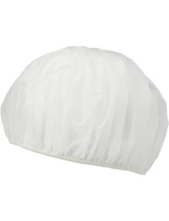 Shower Cap 26cm - White Plastic