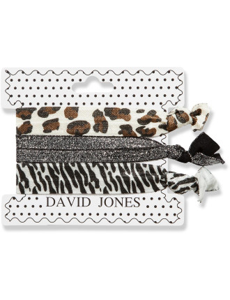 Hair Ribbons 3 Pack - Animal Prints