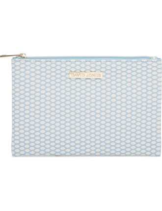 Flat Beauty Bag - Blue