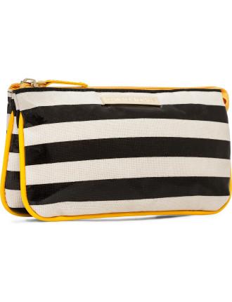 Stripe Small Cosmetic Bag